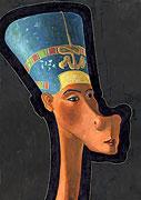 Cartoon: Nofretete - ägyptische Königin