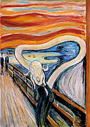 Cartoon: Der Schrei (nach Edvard Munch)