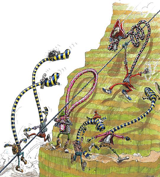 Cartoon Piraten - Terror in den Alpen