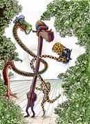 Cartoon: Adam und Eva im Paradies