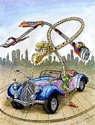 Cartoon: Heißes Auto und flotte Biene - Supermann Cartoon