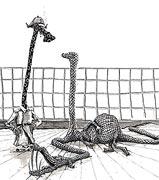 Cartoon: Wachtmeister Pachulke wittert ein Verbrechen