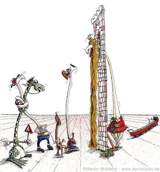 Cartoon Rapunzel... hat ein Geheimnis