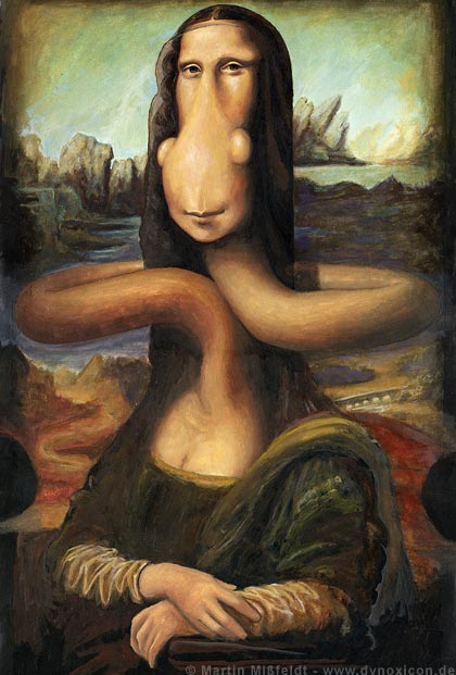 Cartoon Mona Lisa (funny Cartoon)