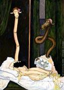 Cartoon: Olympia (nach Edouard Manet) - unbekleidet und elegant