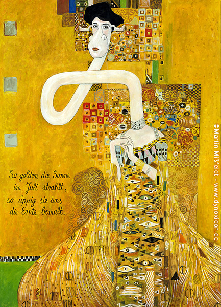 Cartoon Adele Bloch-Bauer nach Gustav Klimt