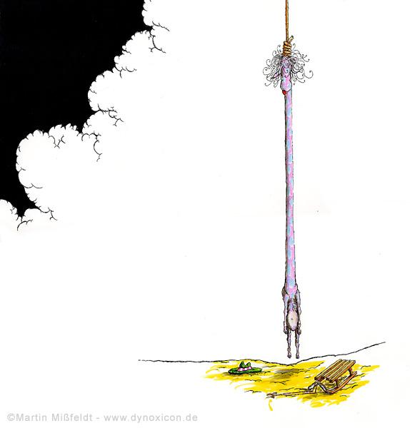 Cartoon Mord oder Selbstmord? Drama in der Wüste