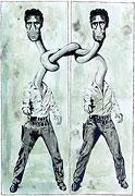 Cartoon: Double Elvis Presley (nach Andy Warhol)