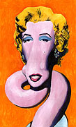 Cartoon: Moderne Kunst: Marilyn Monroe nach Andy Warhol