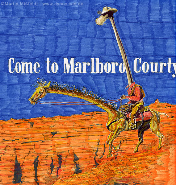Cartoon Come to Marlboro Courty Giraffe