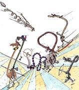 Cartoon: Don Quichote in der Wüste