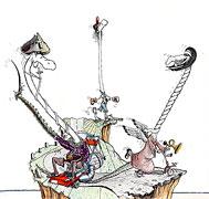 Cartoon: Kleinstadt-Piraten