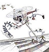 Cartoon: Hubschrauber Terror – Papst in Gefahr